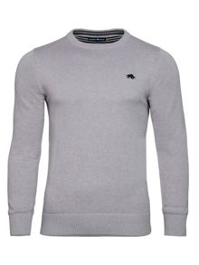 Raging Bull Plain Crew Neck Pull Over Jumper