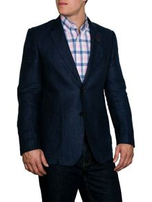 N/Aherringbone Button Blazer