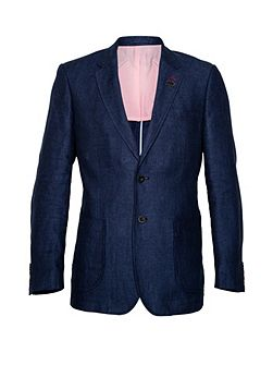 Men's Raging Bull Herringbone Button Blazer