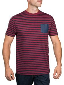 Raging Bull Chambray Pocket Striped T/Shirt