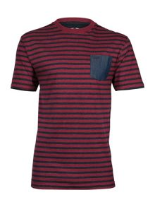 Chambray Pocket Striped T/Shirt