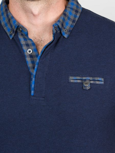 Raging Bull Shirt Collar Jersey Polo