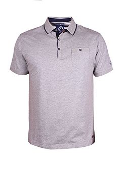 Thin Placket Jersey Polo
