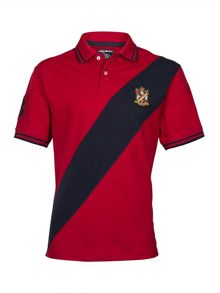 Diagonal Sash Polo