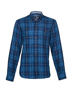 Large check cotton shirt