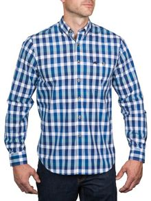 Peached check shirt