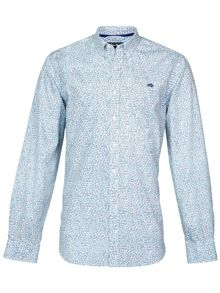 Raging Bull long Sleeve Leaf Print Shirt
