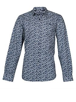 Men's Raging Bull Long Sleeve Floral Print Shirt