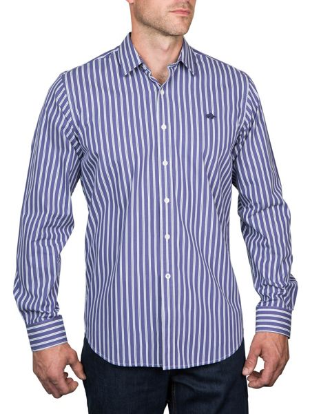 Raging Bull Long Sleeve Multi Stripe Shirt