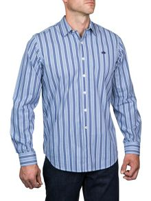 Raging Bull Long Sleeve Fine Stripe Shirt