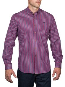 Raging Bull Long Sleeve Varied Stripe Shirt