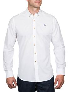 Raging Bull L/S Plain Poplin Shirt