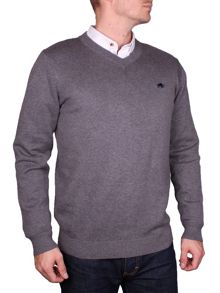 V-Neck Cotton/Cashmere Sweater