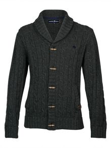 Raging Bull Shawl neck cardigan