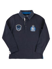 Raging Bull Boys L/S Plain Rugby