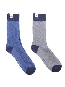 Raging Bull Walking sock 2pk grey/navy