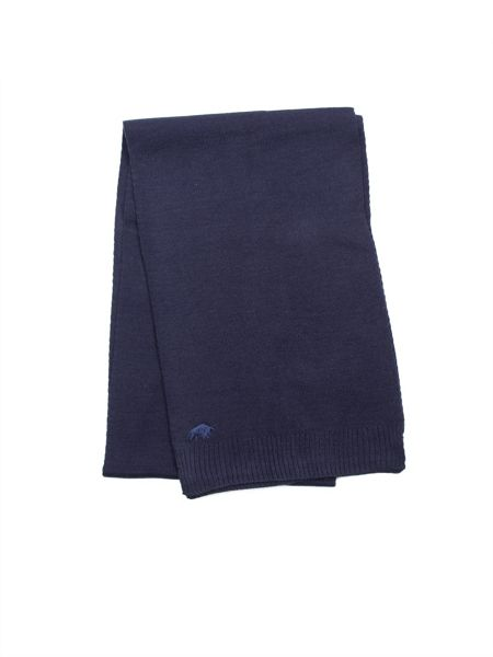 Raging Bull Plain knit scarf - navy