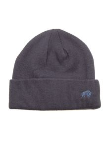 Plain knit hat - navy