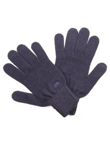 Raging Bull Plain knit gloves - navy