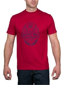 Raging Bull Rugby Ball Print T-Shirt