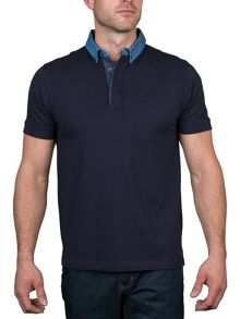 Raging Bull Polka dot collar polo