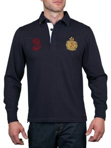 Raging Bull L/S Union Jack Collar Rugby