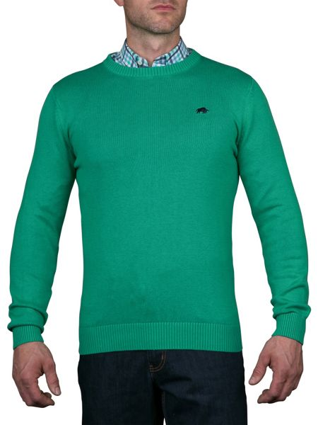 Raging Bull Crew Neck Cotton/Cashmere Sweater