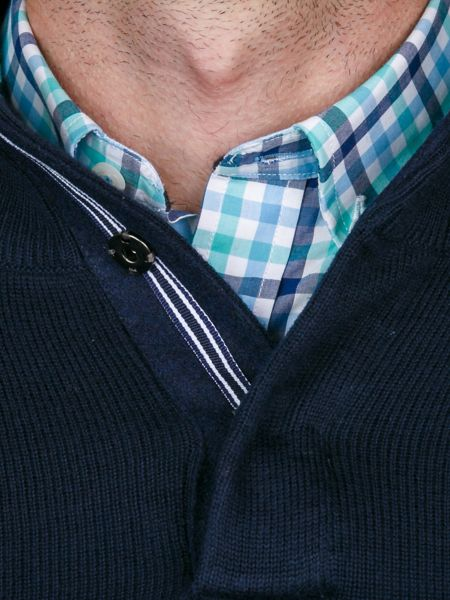 Raging Bull Button Up Funnel Neck Sweater