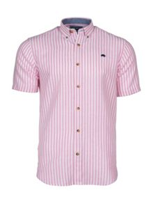 Raging Bull S/S Pin Stripe Linen Shirt