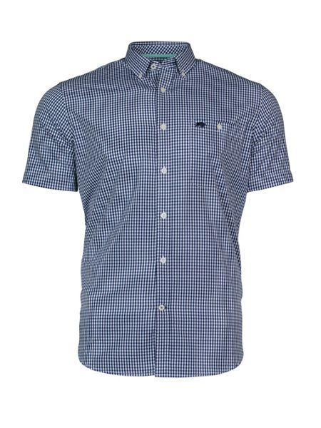 Raging Bull S/S Fine Gingham Shirt