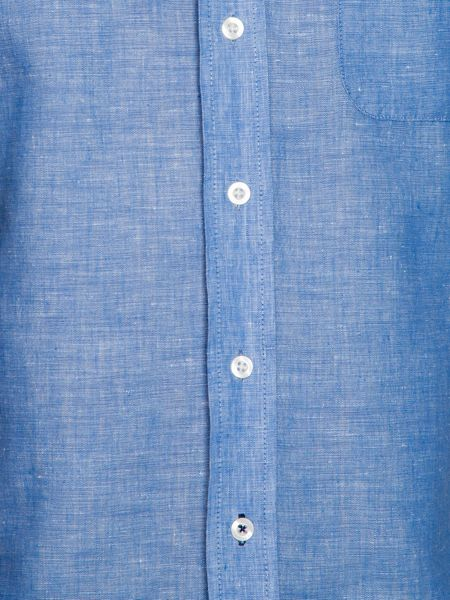 Raging Bull S/S Plain Linen Shirt