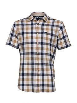 S/S Check Linen Look Shirt