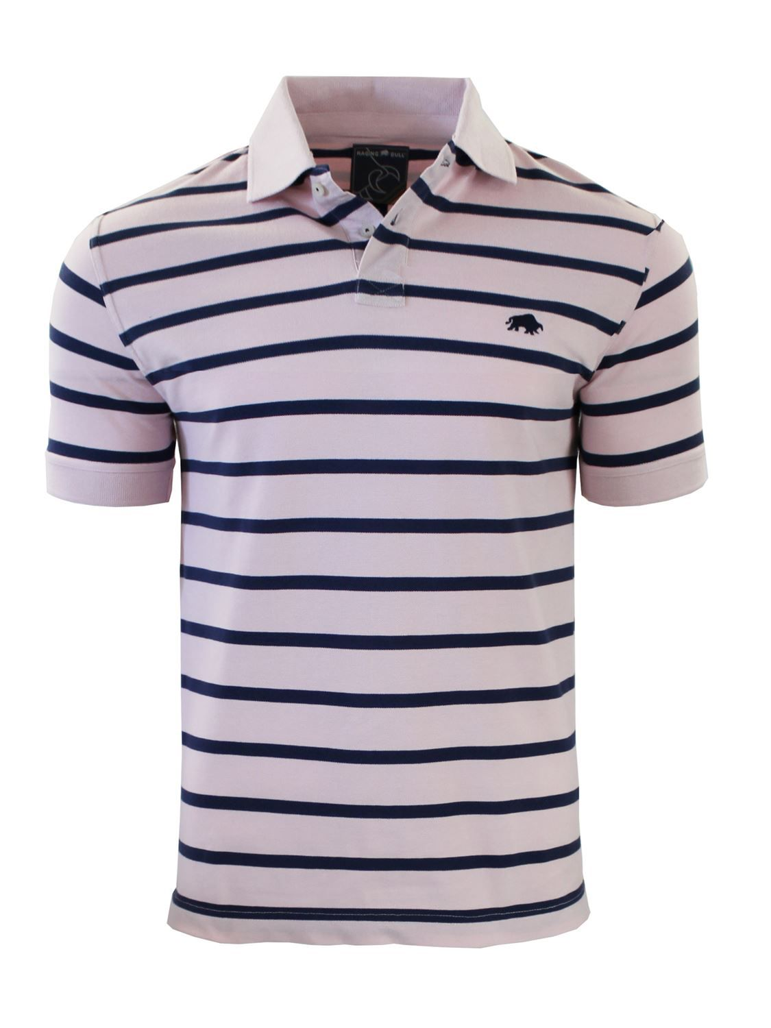 Men's Raging Bull Stripe Polo, Blue