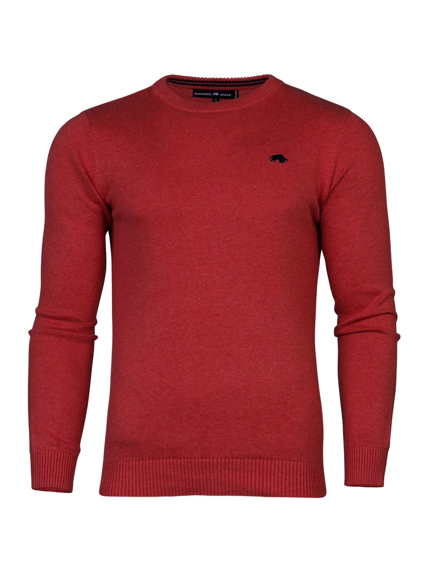 Men's Raging Bull Big & Tall Cotton Crew Sweater, Red