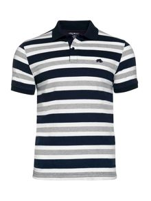 Raging Bull Multi Stripe Jersey Polo