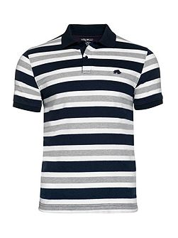 Multi Stripe Jersey Polo