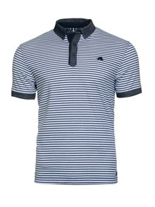 Raging Bull Shirt Collar Stripe Jersey Polo