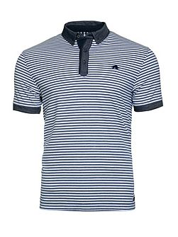 Shirt Collar Stripe Jersey Polo
