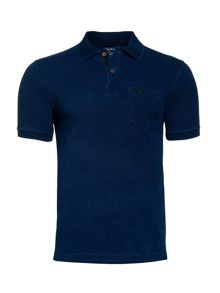 Raging Bull Indigo Pocket Pique Polo