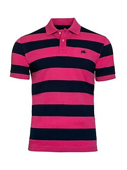 Hooped Pique Polo