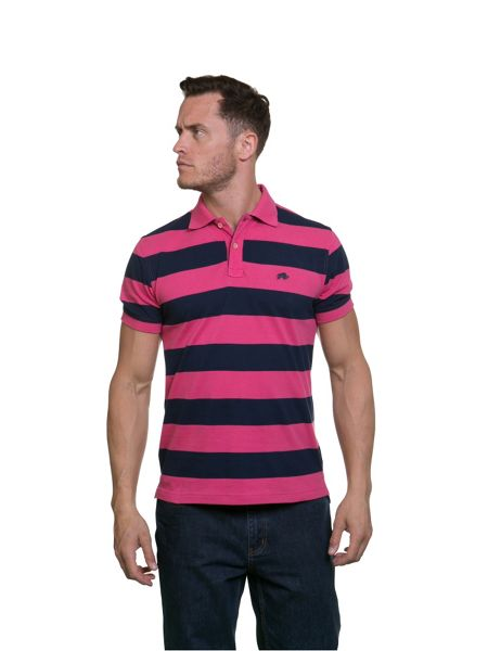 Raging Bull Hooped Pique Polo