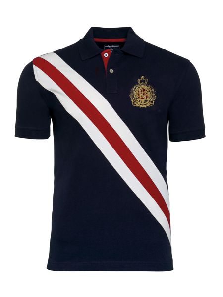 Raging Bull Diagonal Stripe Pique Polo
