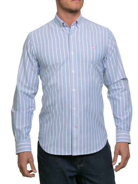 Raging Bull Stripe Oxford Shirt