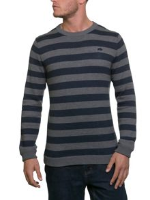 Raging Bull Stripe Crew Neck Knit