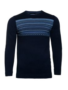 Raging Bull Fairisle Panel Sweater