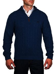Raging Bull Cable Knit Quarter Zip