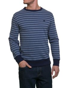 Raging Bull Stripe Crew Sweater