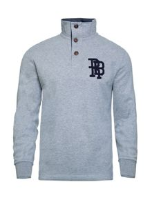 Raging Bull Applique Funnel Neck Sweater