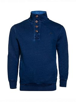 Indigo Funnel Neck Sweater
