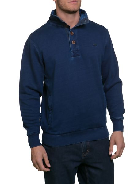 Raging Bull Indigo Funnel Neck Sweater